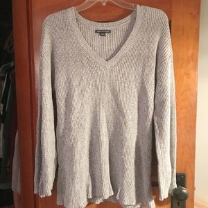American Eagle Knit Sweater Braided Sleeve Detail